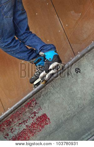Roller In A Skatepark