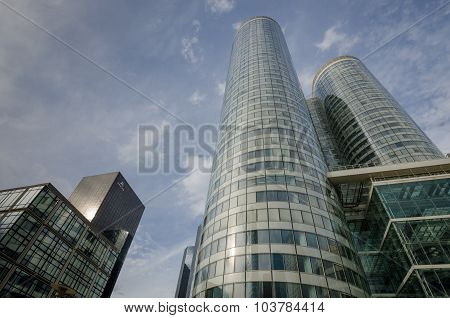Modern office buildings at La Defense in Paris