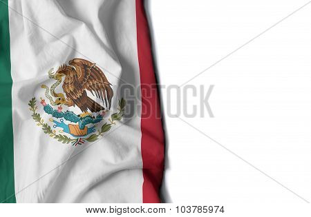 Waving Flag Of Mexico, North America