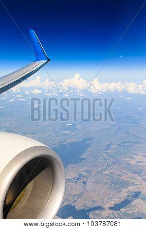 clouds in the blue sky