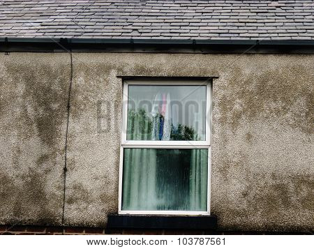 dirty terrace house window laundry modern