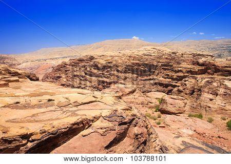 Rock cut architecture in Petra