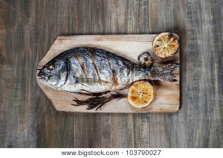 Prepared fish on on the table
