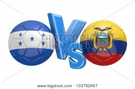 Soccer versus match between national teams Honduras and Ecuador