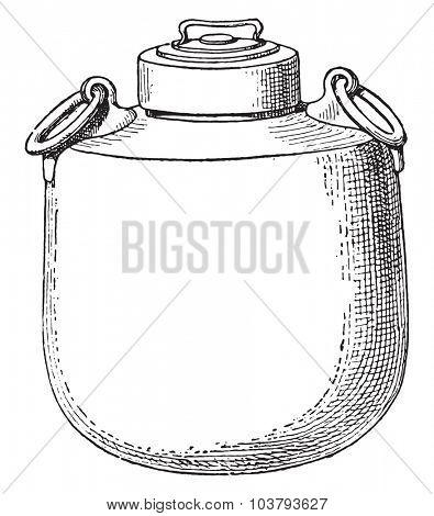 Cauldron, vintage engraved illustration.