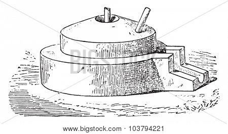 Grinding Wheel, vintage engraved illustration.