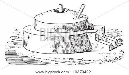 Grinding Wheel, vintage engraved illustration.