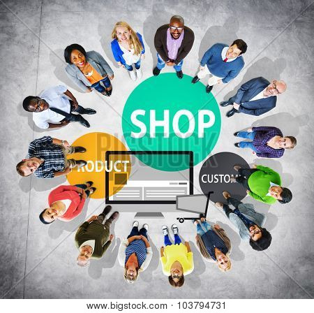 Shop Product Customer Buying Commercial Consumer Concept