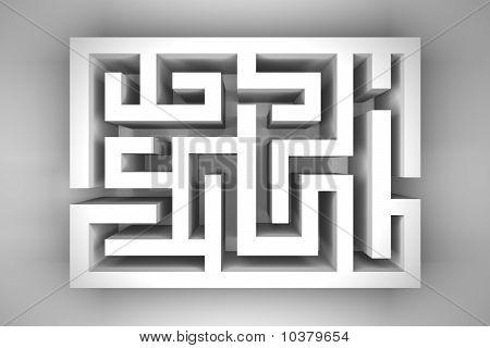White Blank Maze