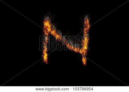 Fire alphabet letter