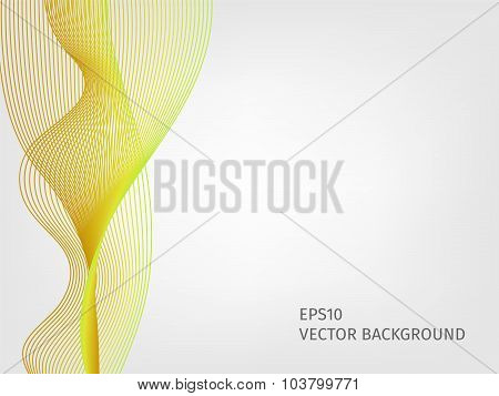 Abstract Vector Waved Line Background