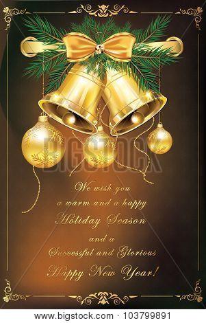 Holiday season postcard