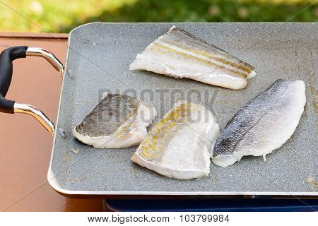 Fillet Sea Bream And Codfish