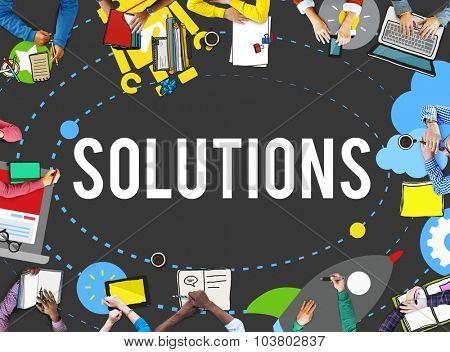 Solution Innovation Solving Progress Strategy Plan Concept