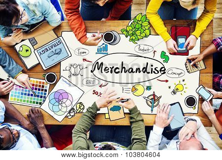 Merchandise Product Marketing Consumer Sell Concept
