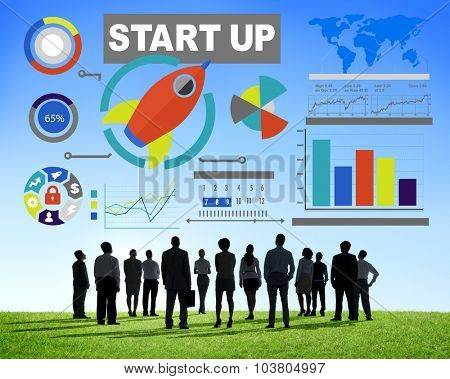 Business People Start Up Creativity Goals Vision Concept