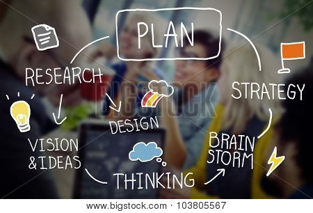 Plan Strategy Brainstorming Thinking Creativity Success Concept