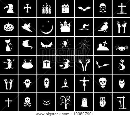 Forty two Halloween Icons