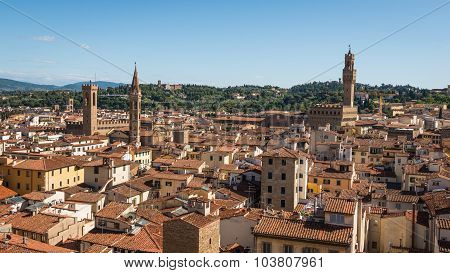 Aerial View Of Historic  Town Florence