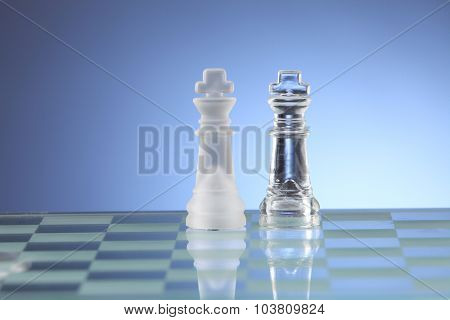 battle between two kings on the board
