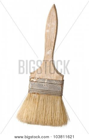 Used brush isolated on white background