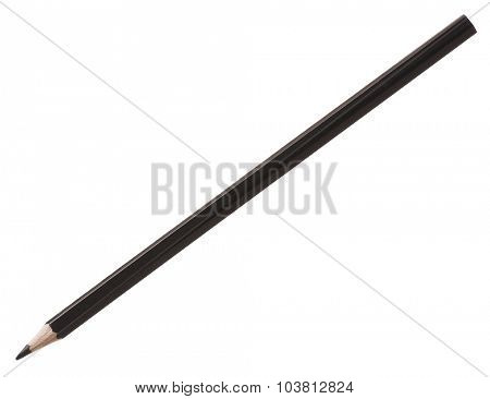 Pencil black - isolated on pure white background