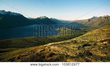 Marvelous Lake Wakatipu Mountain Range Concept