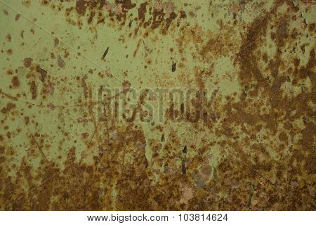 Rusty Metal With Old Cracked  Paint