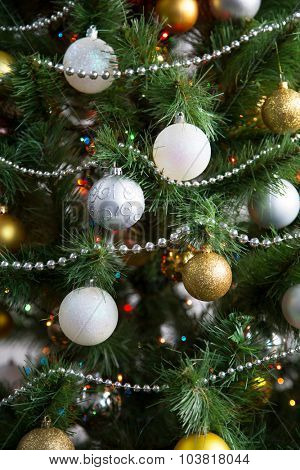 Christmas balls on the Christmas tree