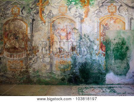 Frescoes Of Carmine Church, Erice