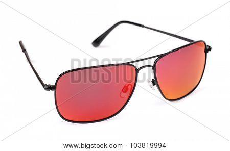 Polarized sunglasses isolated on white