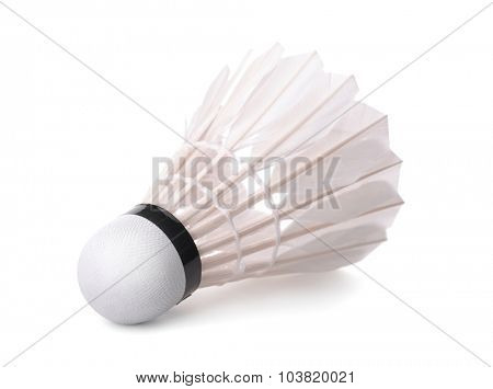 Badminton shuttlecock isolated on white