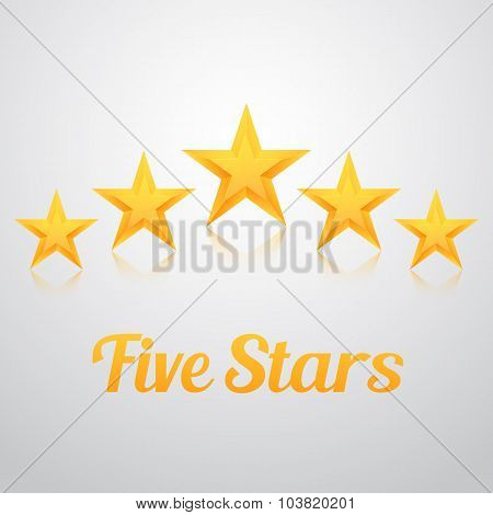 Set of Vector Gold Stars Icon. Five Stars Icon Template. Best Ra