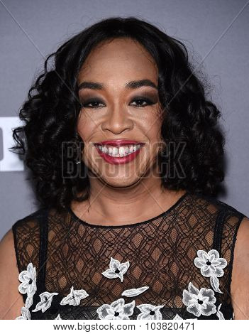 LOS ANGELES - SEP 26:  Shonda Rhimes arrives to the TGIT Premiere Red Carpet Event  on September 26, 2015 in Hollywood, CA.