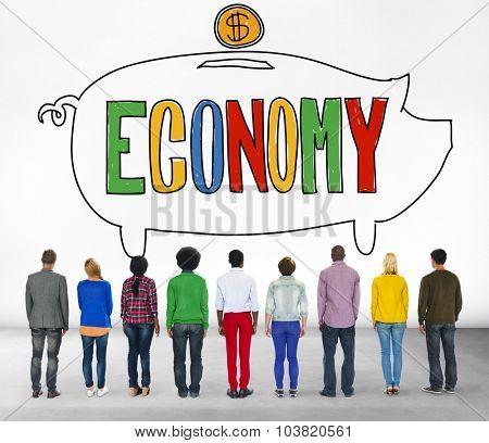 Economy Financial Banking Saving Money Concept