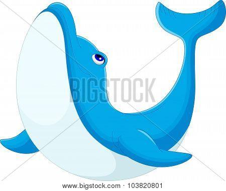 Cute cartoon dolphin