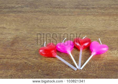 Candles Heart Shape