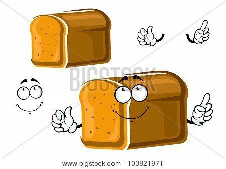 Cartoon whole grain bread character