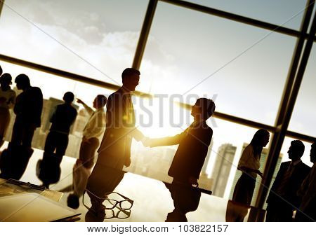 Businessmen Handshake Deal Business Commitment Concept