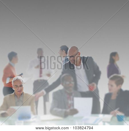 Leadership Corporate Meeting Business Planning Concept