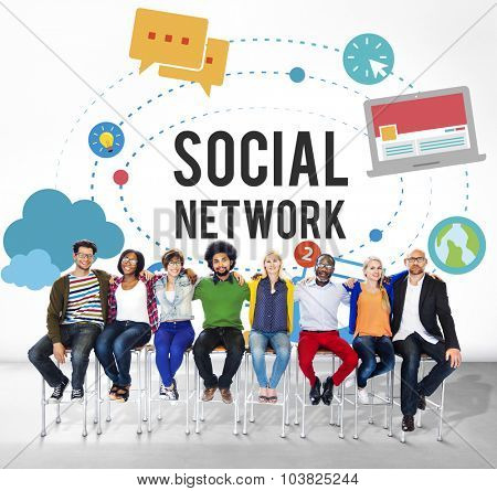 Social Media Network Online Internet Concept