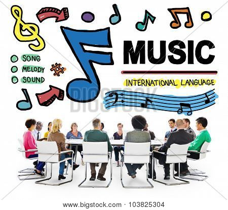 Music Notes Song Entertainment Media Concept