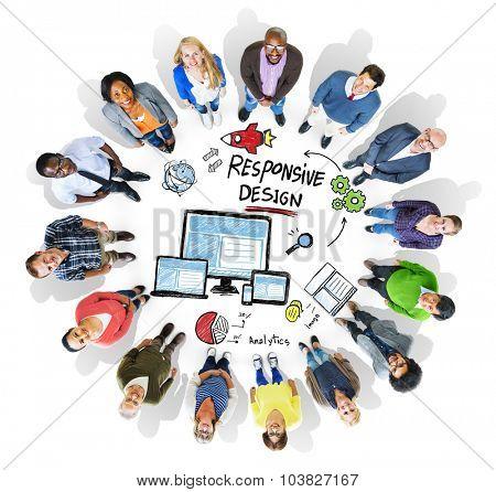Responsive Design Internet Web Online Diversity People Concept