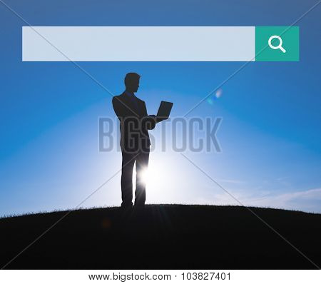 Search box Web Online Browsing Searching Concept