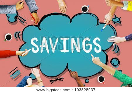 Savings Accounting Economy Money Financial Concept