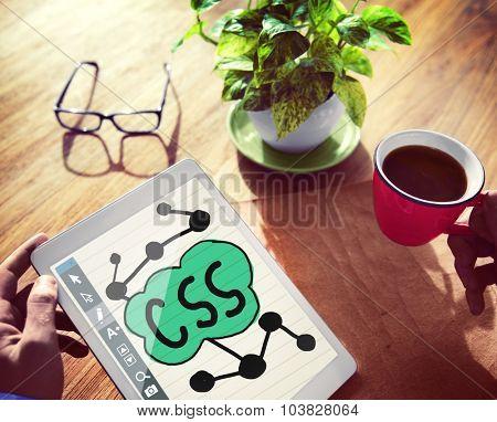 CSS Internet Website Design Business Network Concepts