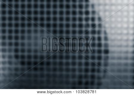Loudspeaker And Grille, As Abstract Blur Background Of Power Amplifier