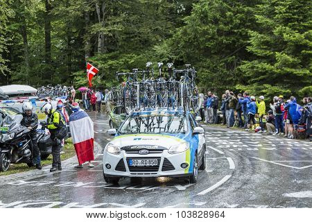 The Car Of Netapp-endura Team - Tour De France 2014