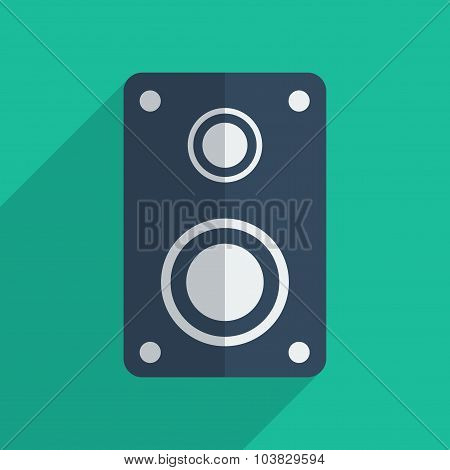 Flat icons modern design with shadow of amplifier