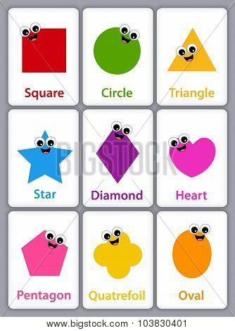 Geometric Shapes Flash Cards